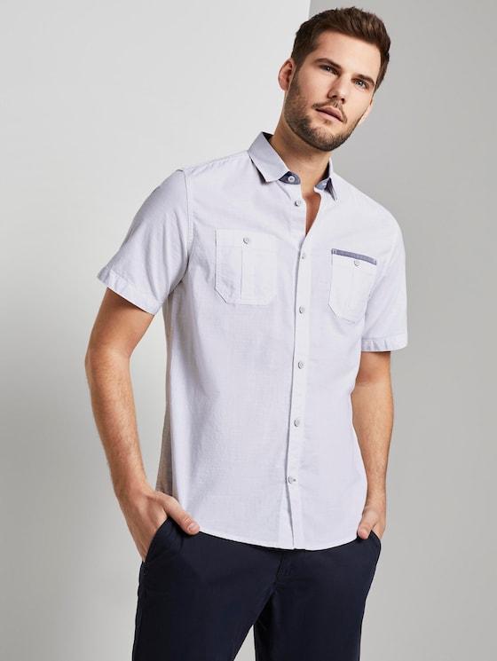 Kurzärmliges Hemd - Männer - White - 5 - TOM TAILOR