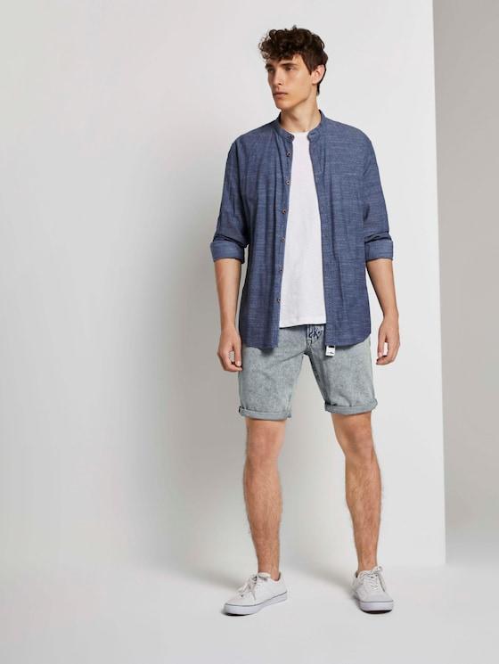 Regular Bermuda Jeans - Männer - acid washed  blue denim - 3 - TOM TAILOR Denim