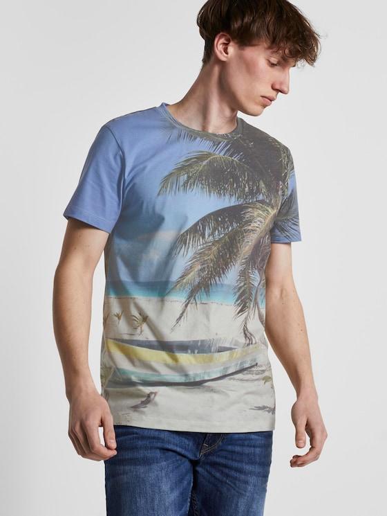 T-Shirt mit Strand-Print - Männer - beach photo print - 5 - TOM TAILOR Denim