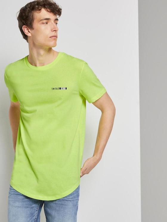 T-Shirt mit Logo-Print - Männer - neon green - 5 - TOM TAILOR Denim