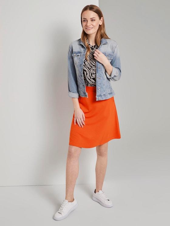 A-lijn rok met zakken - Vrouwen - strong flame orange - 3 - TOM TAILOR