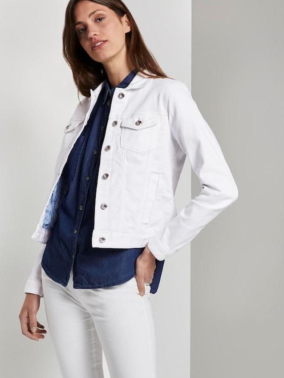 Denim jacket - Women - White - 5 - TOM TAILOR