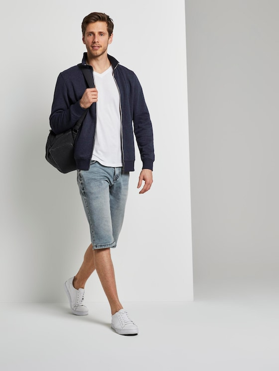 Max Bermuda Jeans - Männer - Used Light Stone Blue Denim - 3 - TOM TAILOR