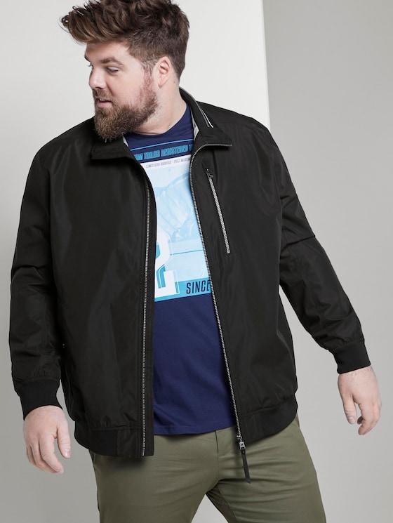 Blouson jacket - Men - Black - 5 - Men Plus