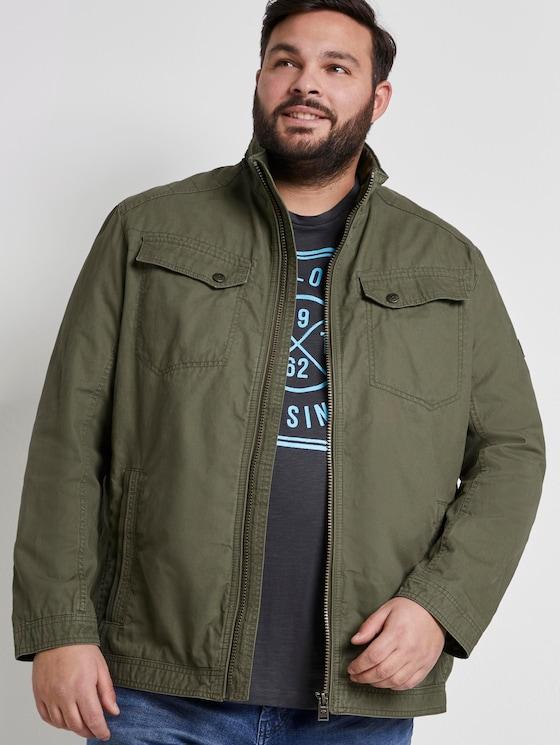 Blouson-Jacke mit Brusttaschen - Männer - Olive Night Green - 5 - Men Plus