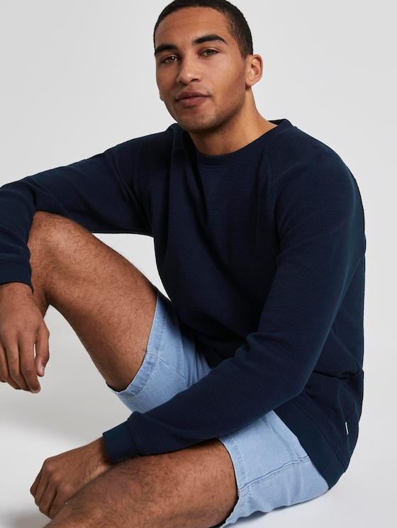 Strukturiertes Sweatshirt - Männer - Sky Captain Blue - 5 - TOM TAILOR Denim