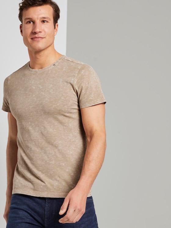 T-Shirt im Washed-Look - Männer - Silver Ecru - 5 - TOM TAILOR