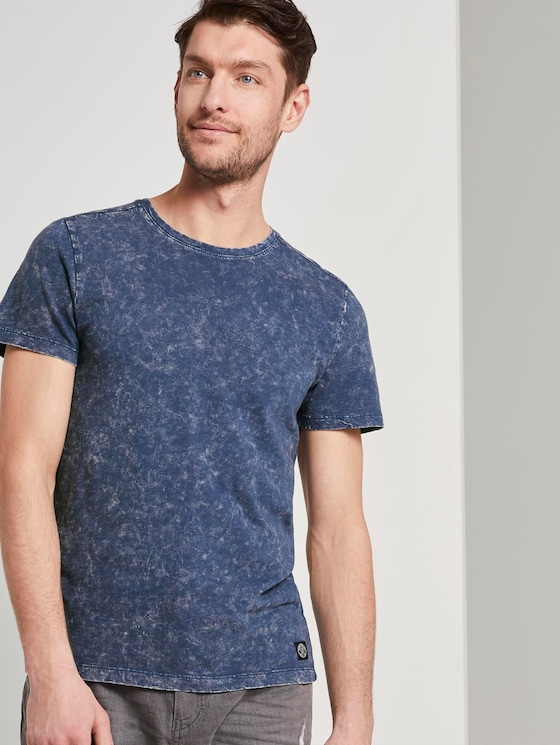 T-Shirt im Washed-Look - Männer - after dark blue - 5 - TOM TAILOR