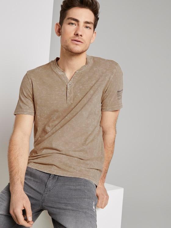 Henley-T-Shirt im Washed-Look - Männer - Silver Ecru - 5 - TOM TAILOR
