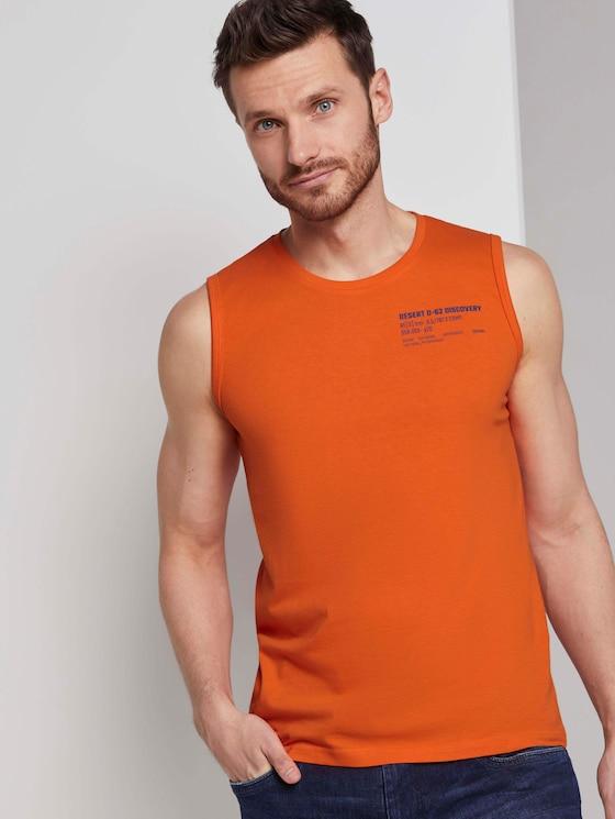 Tanktop mit Logo-Print - Männer - true orange - 5 - TOM TAILOR