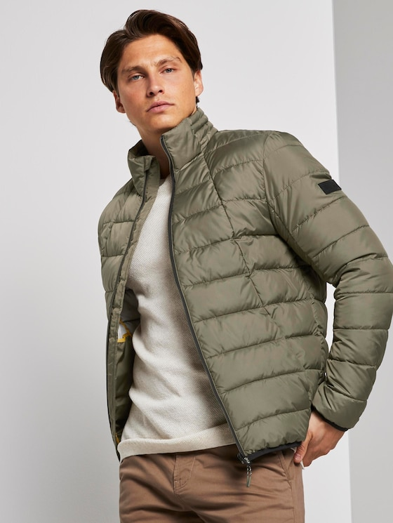 Morderne lightweight Steppjacke - Männer - Dusty Olive Green - 5 - TOM TAILOR Denim