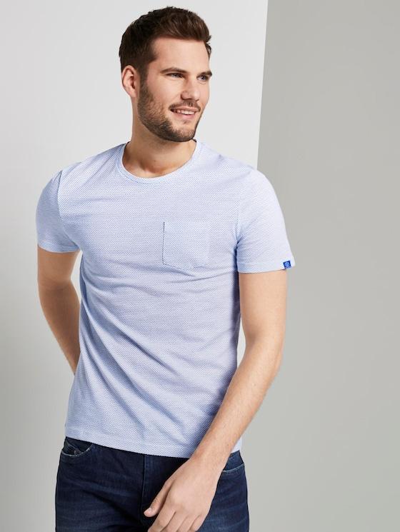Schlichtes T-Shirt - Männer - white waves design - 5 - TOM TAILOR