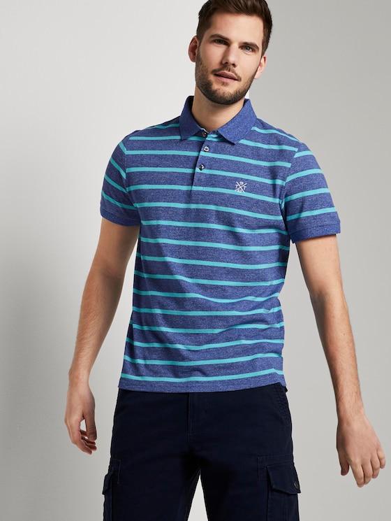 Gestreiftes Poloshirt - Männer - blue melange stripe - 5 - TOM TAILOR