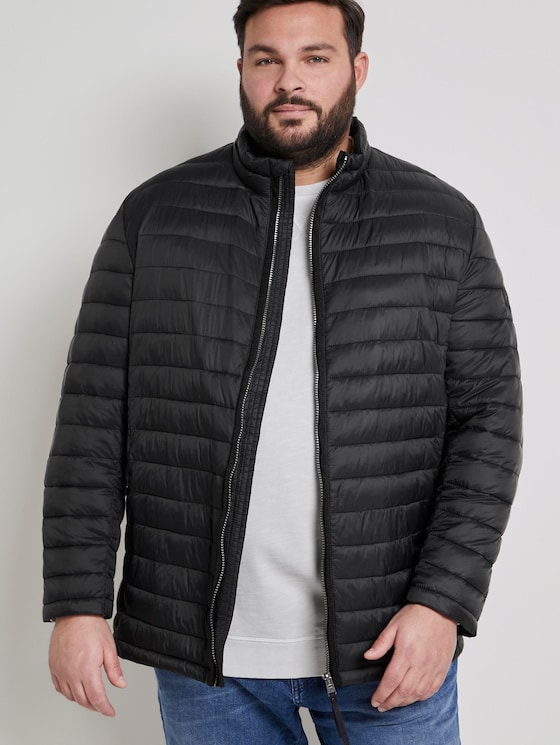 Lightweight quilted jacket - Men - Black - 5 - Men Plus