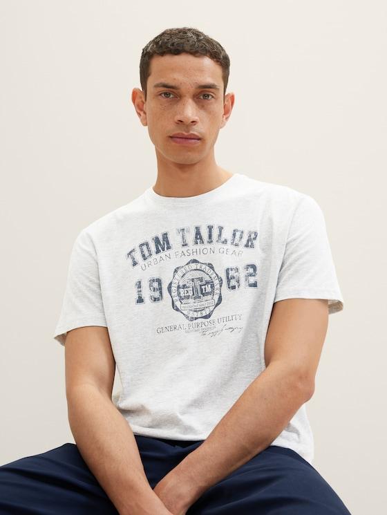 Basic T-Shirt im Dreierpack - Männer - Middle Grey Melange - 5 - TOM TAILOR
