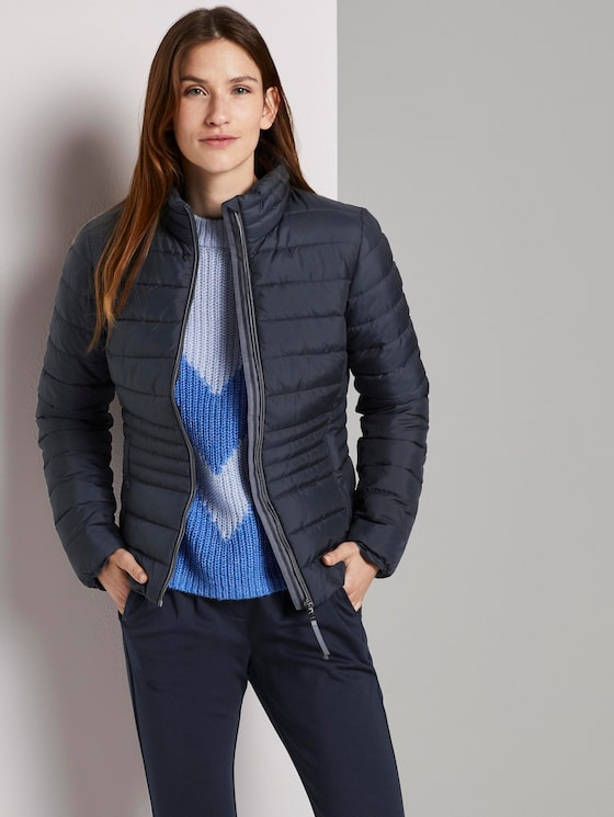 Lightweight quilted jacket with a stand-up collar - Women - Sky Captain Blue - 5 - TOM TAILOR