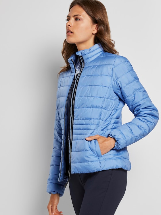 Lightweight Steppjacke mit Stehkragen - Frauen - sea blue - 5 - TOM TAILOR