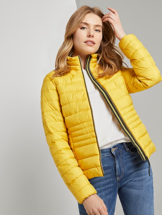 Lightweight quilted jacket with a stand-up collar - Women - california sand yellow - 5 - TOM TAILOR