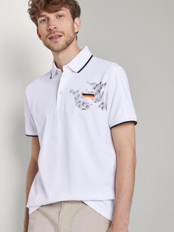 Sportliches Poloshirt mit Fußball-EM-Print - Männer - White - 5 - TOM TAILOR