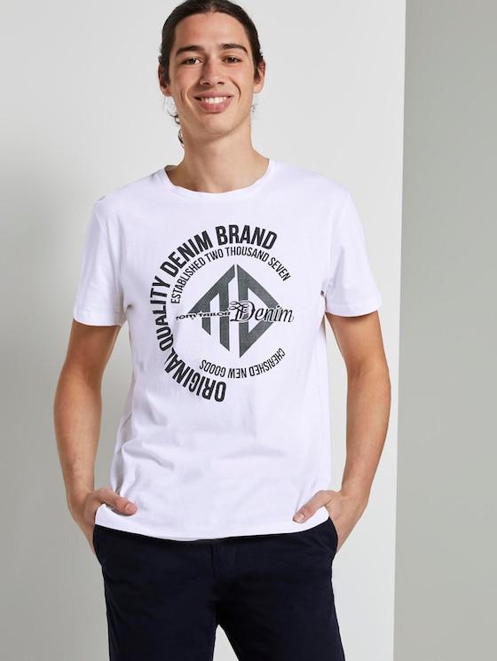 T-Shirt mit Print - Männer - White - 5 - TOM TAILOR Denim