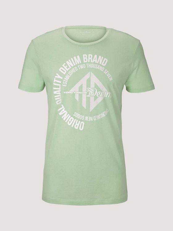 T-Shirt mit Print - Männer - smooth green - 7 - TOM TAILOR Denim