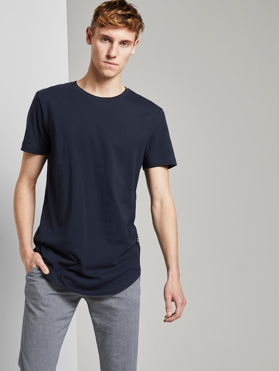 Basic T-Shirt aus Organic Cotton - Männer - Sky Captain Blue - 5 - TOM TAILOR Denim