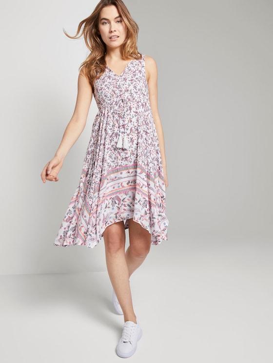 Luftiges Tuchkleid mit Musterung - Frauen - offwhite paisley design - 5 - TOM TAILOR