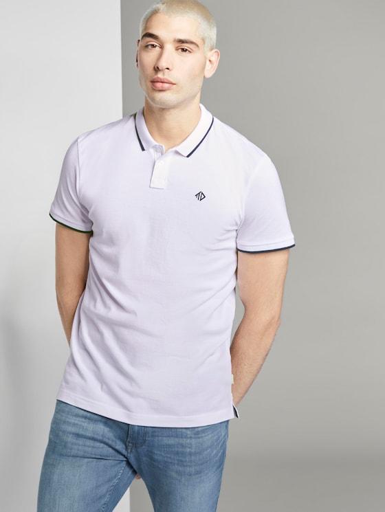 Strukturiertes Pique Poloshirt - Männer - White - 5 - TOM TAILOR Denim