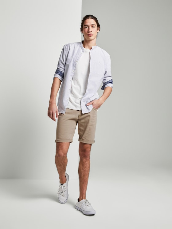 Denim Shorts - Männer - Silver Ecru - 3 - TOM TAILOR Denim