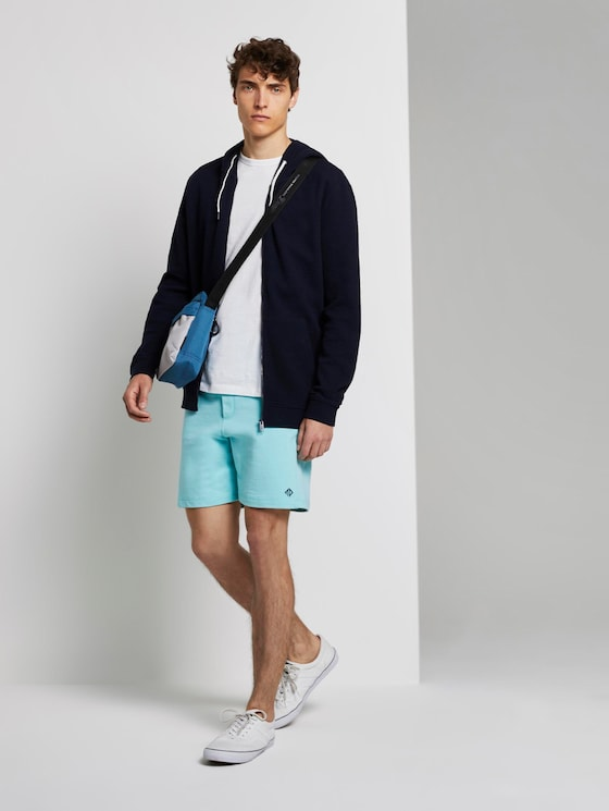 Katoenen Shorts - Mannen - soft sky blue - 3 - TOM TAILOR Denim