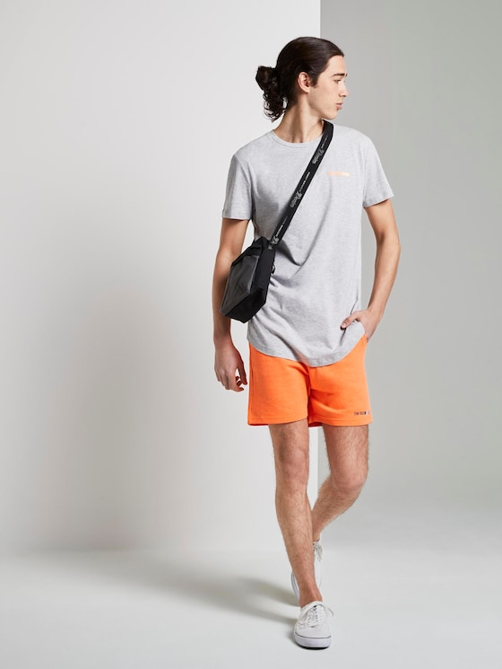 Sweat Shorts aus Baumwolle - Männer - tijuana orange neon - 3 - TOM TAILOR Denim