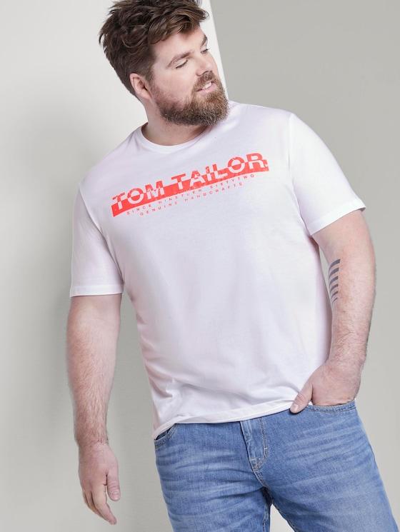 T-shirt with a print - Men - White - 5 - Men Plus