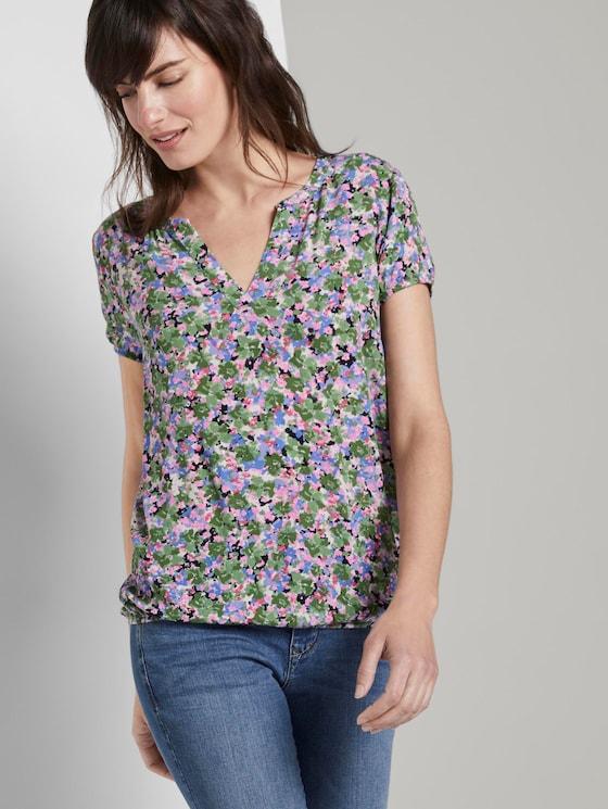 Gemustertes Blusenshirt - Frauen - colorful floral design - 5 - TOM TAILOR