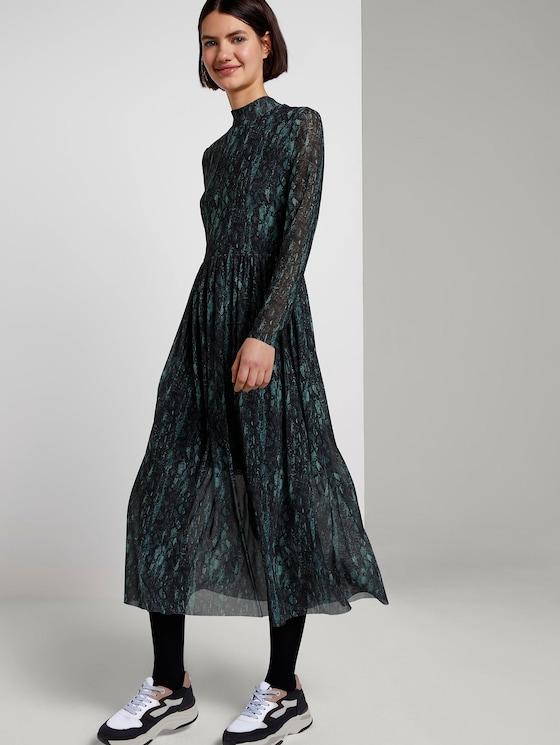 patroon midi-kleedje - Vrouwen - green and black snake design - 5 - TOM TAILOR Denim