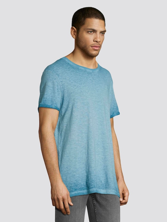 T-shirt in a washed-out look - Men - north atlantic blue - 5 - TOM TAILOR Denim