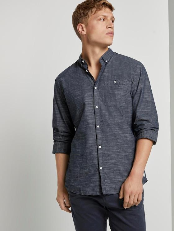 Hemd mit 3/4-Arm - Männer - blue slub stripe - 5 - TOM TAILOR Denim