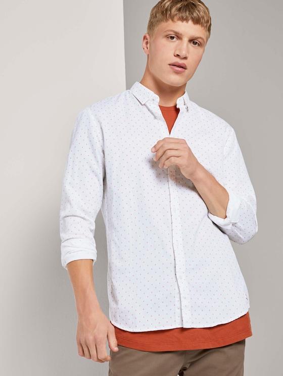 Fein gemustertes Hemd - Männer - white stripy rhombus print - 5 - TOM TAILOR Denim