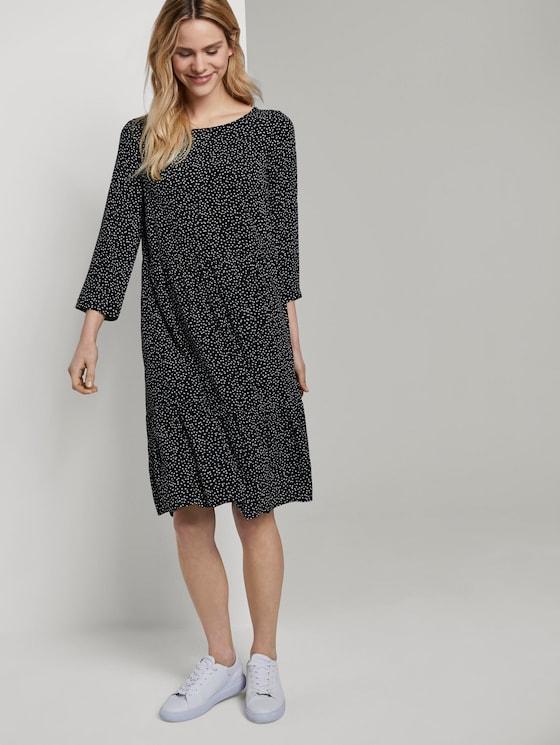 Gepunktetes Kleid mit Volants - Frauen - black offwhite dot print - 5 - TOM TAILOR