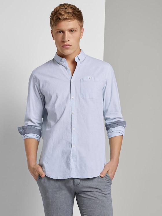 Hemd mit Brusttasche - Männer - Light Blue - 5 - TOM TAILOR Denim