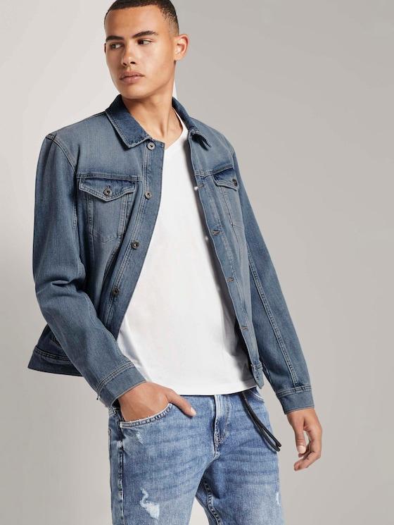Bright denim jacket - Men - Used Bleached Blue Denim - 5 - TOM TAILOR Denim