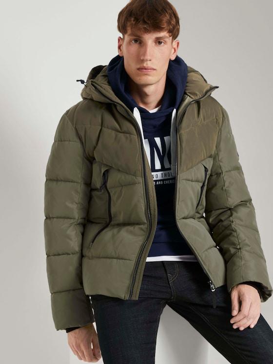 Puffer jas met afneembare hoodie - Mannen - Tree-Moss Green - 5 - TOM TAILOR Denim