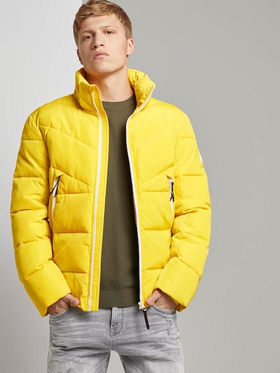 Puffer jas met afneembare hoodie - Mannen - lemon juice yellow - 5 - TOM TAILOR Denim
