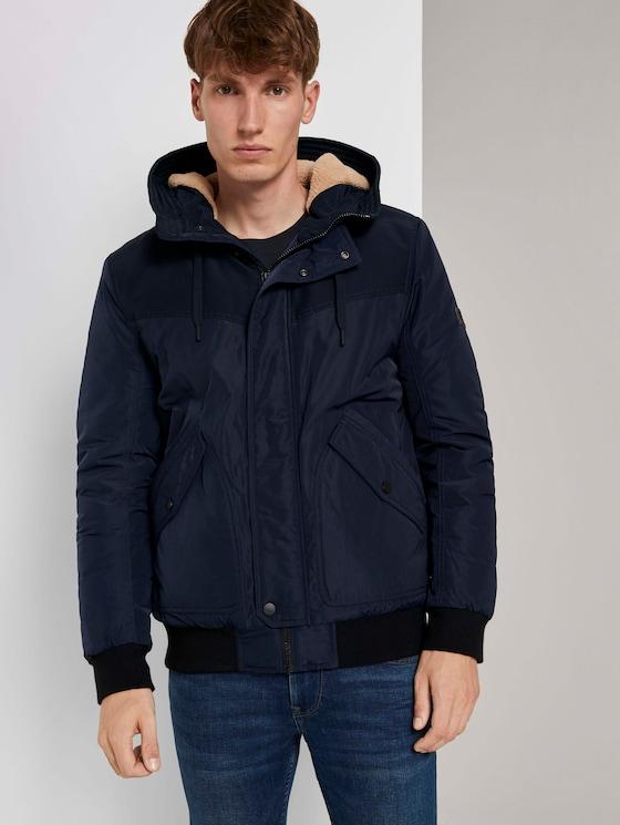 Bomberjack met gevoerde hoodie - Mannen - Sky Captain Blue - 5 - TOM TAILOR Denim