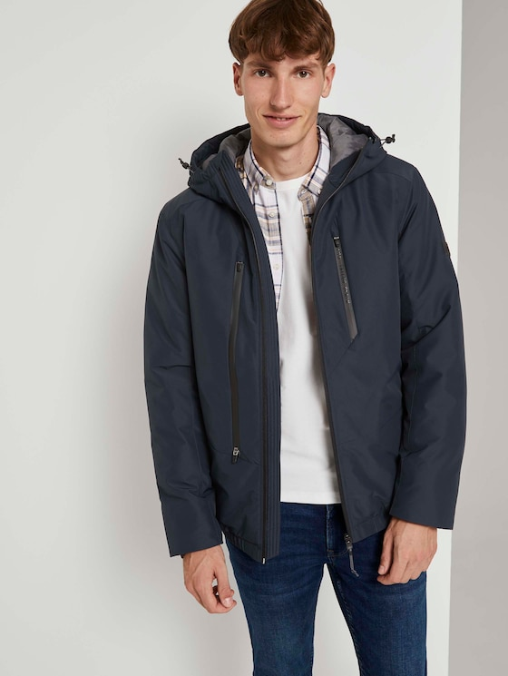 Jacke mit Kapuze - Männer - Sky Captain Blue - 5 - TOM TAILOR Denim