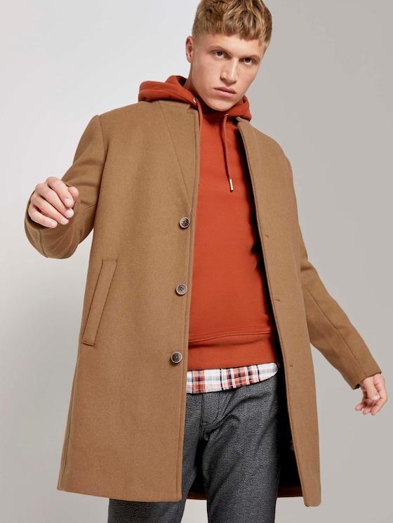 Modern wool-blend coat - Men - Hay Beige - 5 - TOM TAILOR Denim