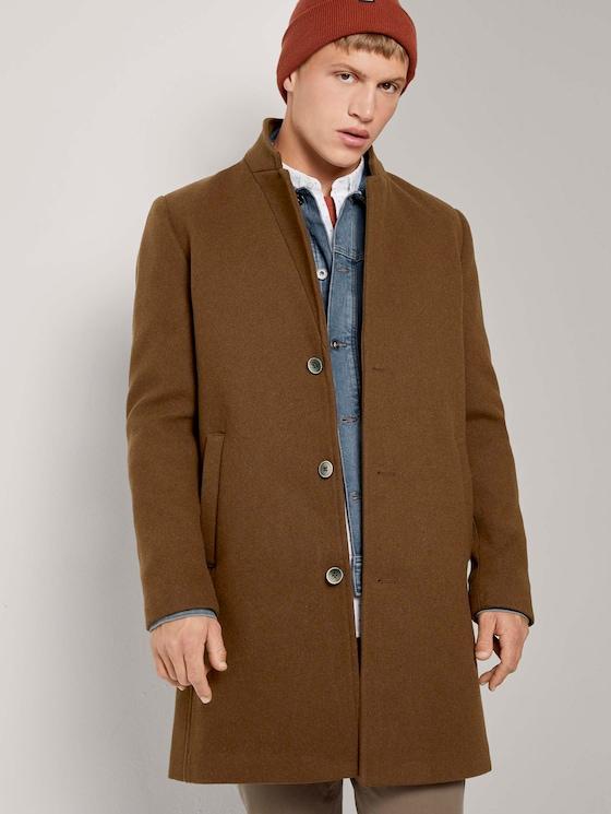 Moderner Mantel aus Wollgemisch - Männer - equestrian brown - 5 - TOM TAILOR Denim