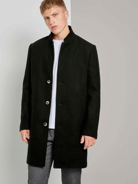 Moderner Mantel aus Wollgemisch - Männer - Black - 5 - TOM TAILOR Denim