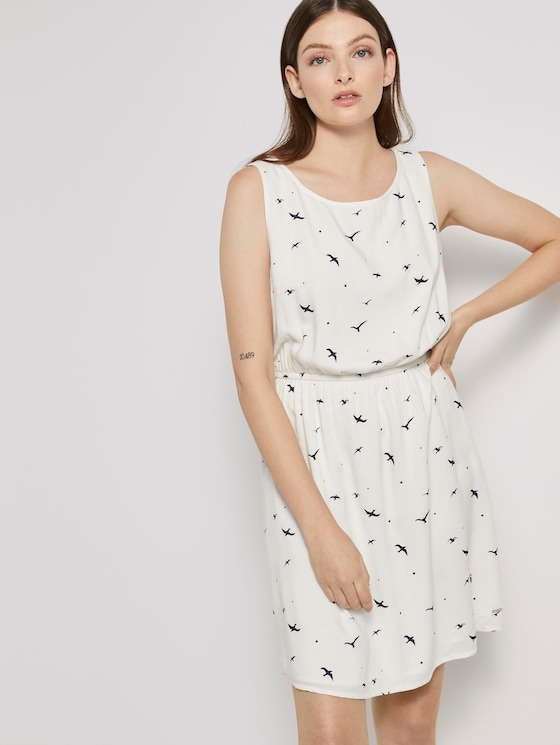 Gemustertes Minikleid - Frauen - off white seagull print - 5 - TOM TAILOR Denim