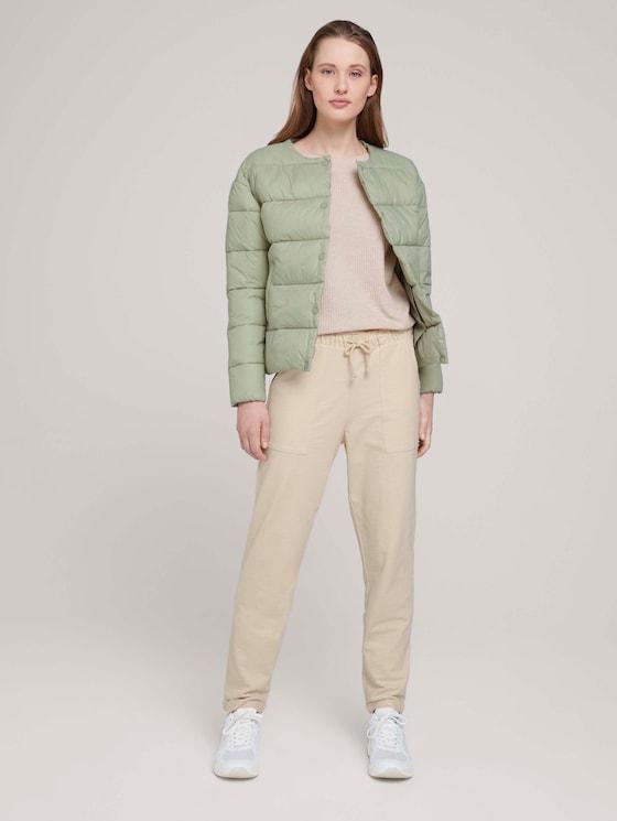 Jogginghose mit Oversized-Taschen - Frauen - soft creme beige - 3 - TOM TAILOR Denim