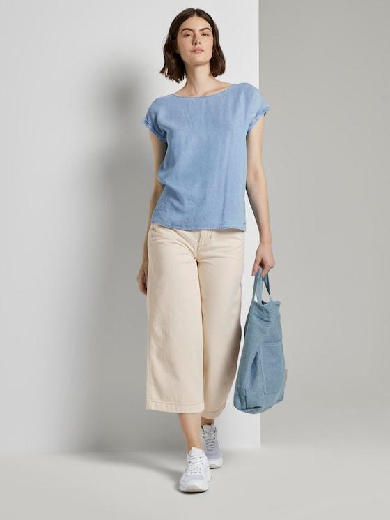 Culotte Jeans - Frauen - soft creme beige - 3 - TOM TAILOR Denim